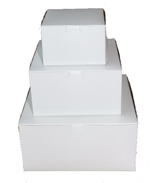 Ultimate Baker White 1/4 Sheet Cake Boxes 14 X 10 X 4 (50 Pack)