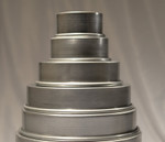 Ultimate Baker Round Cake Pan Set 5 Tier 6, 8, 10, 12, 14 X 3 (5 Piece Set)