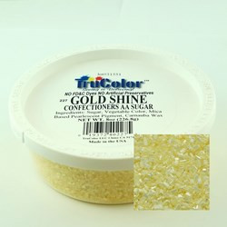 TruColor Confectioners AA Sanding Sugar (Large Crystals) Gold Shine (1x8 oz)