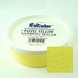 TruColor Confectioner's Sanding Sugar (Fine Crystals) Pastel Yellow (1x8 oz)