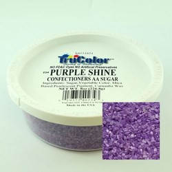 TruColor Confectioners AA Sanding Sugar (Large Crystals) Purple Shine  (1x8 Oz)
