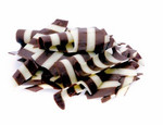 ifiGOURMET Zebra Shavings, White and Milk Chocolate Topping (5.5 LB)