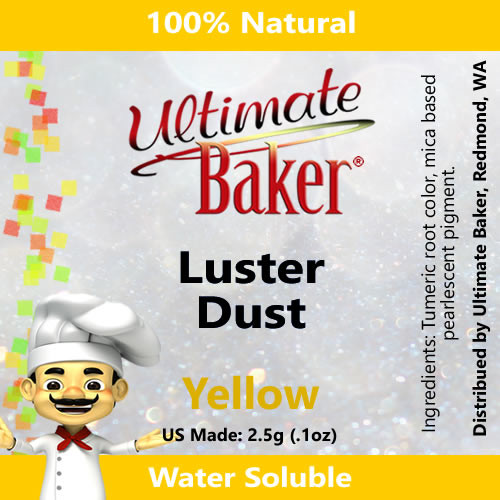 Ultimate Baker Luster Dust Yellow (1x2.5g)