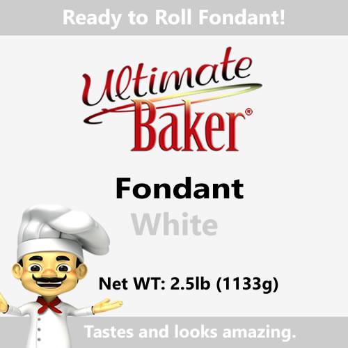 Ultimate Baker White Fondant (1x2.5lbs)