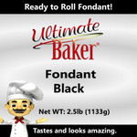 Ultimate Baker Black Fondant (1x2.5lbs)