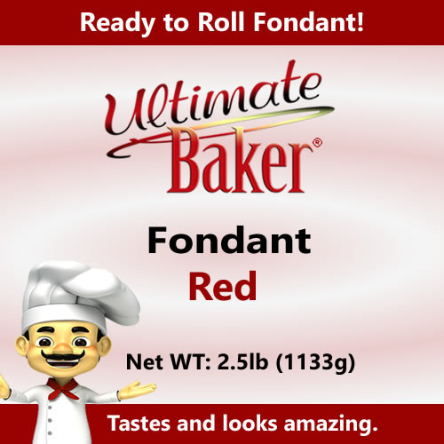 Ultimate Baker Red Fondant (1x2.5lbs)