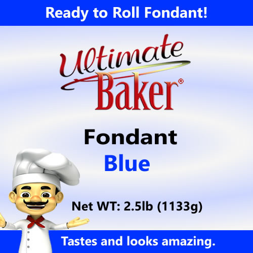 Ultimate Baker Blue Fondant (1x2.5lbs)