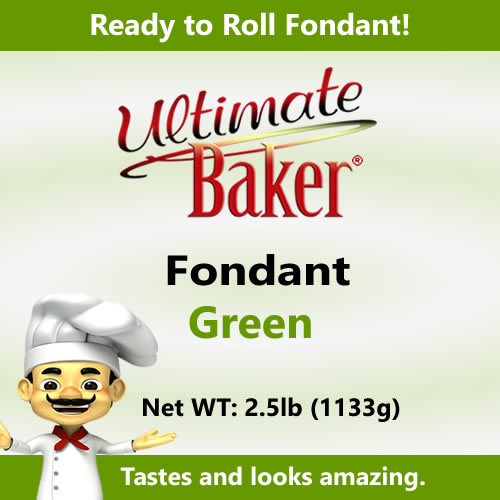 Ultimate Baker Green Fondant (1x2.5lbs)