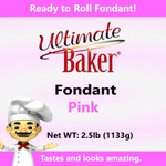 Ultimate Baker Pink Fondant (1x2.5lbs)