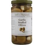 Jeff's Naturals Garlic Stfd Olives (6x7.5OZ )