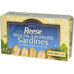 Reese Plain Sardines in Olive Oil (10x4.37 Oz)