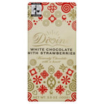 Divine Chocolate White With Strawberries (10x3.5 Oz)