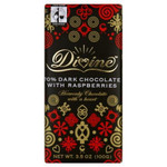Divine Chocolate Dark Chocolate Raspberry (10x3.5 Oz)