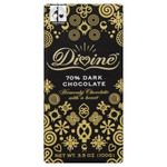 Divine Chocolate 70% Cocoa Dark Chocolate Bar (10x3.5 Oz)