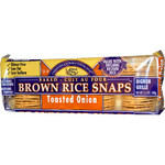 Edward & Sons Onion Brown Rice Snaps (12x3.5 Oz)