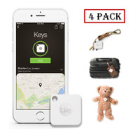 Tile Mate Compact GPS Bluetooth Tracker - Anything Finder - 4 Pack