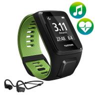 TomTom Runner 3 - Cardio - Music - HP - Black/Green - Large