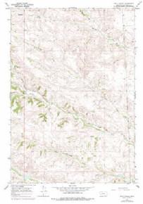 7.5' Topo Map of the Bar V Ranch, MT Quadrangle