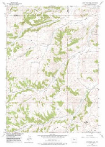 7.5' Topo Map of the Adam Weiss Peak, WY Quadrangle