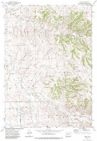 7.5' Topo Map of the Adon, WY Quadrangle