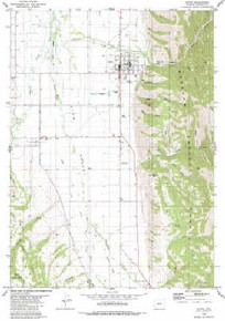 7.5' Topo Map of the Afton, WY Quadrangle