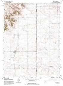 7.5' Topo Map of the Albin, WY Quadrangle