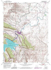 7.5' Topo Map of the Alcova, WY Quadrangle
