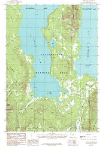 7.5' Topo Map of the Alder Lake, WY Quadrangle