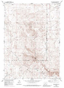 7.5' Topo Map of the Alkali Butte, WY Quadrangle
