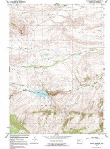 7.5' Topo Map of the Anchor Reservoir, WY Quadrangle