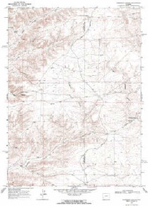 7.5' Topo Map of the Anderson Canyon, WY Quadrangle