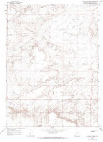7.5' Topo Map of the Antelope Knoll, WY Quadrangle