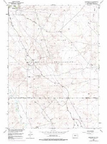 7.5' Topo Map of the Arapahoe NE, WY Quadrangle