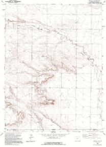 7.5' Topo Map of the Arcola, WY Quadrangle