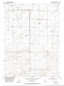 7.5' Topo Map of the Arminto SW, WY Quadrangle