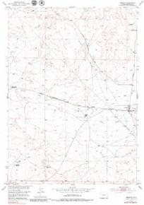 7.5' Topo Map of the Arminto, WY Quadrangle