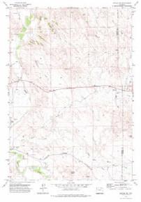 7.5' Topo Map of the Arvada NE, WY Quadrangle