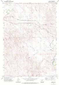 7.5' Topo Map of the Arvada, WY Quadrangle