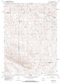 7.5' Topo Map of the Bader Draw, WY Quadrangle