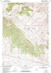 7.5' Topo Map of the Badwater, WY Quadrangle