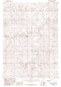 7.5' Topo Map of the Baker Spring, WY Quadrangle