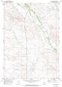 7.5' Topo Map of the Ball Island, WY Quadrangle