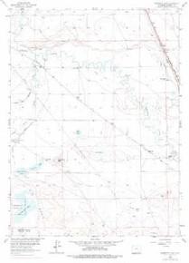 7.5' Topo Map of the Bamforth Lake, WY Quadrangle