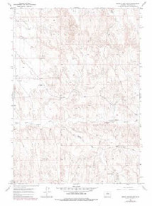 7.5' Topo Map of the Banjo Flats East, WY Quadrangle
