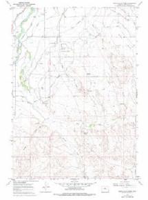 7.5' Topo Map of the Banjo Flats West, WY Quadrangle