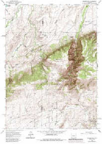 7.5' Topo Map of the Banner Mtn, WY Quadrangle