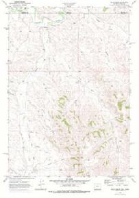 7.5' Topo Map of the Bar N Draw, WY Quadrangle