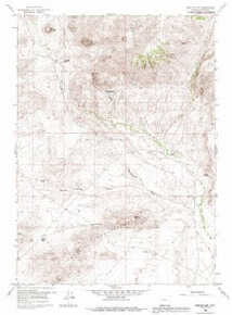 7.5' Topo Map of the Barlow Gap, WY Quadrangle