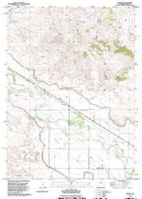 7.5' Topo Map of the Barnes, WY Quadrangle