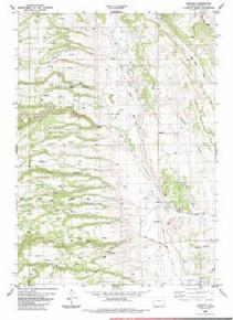 7.5' Topo Map of the Barnum, WY Quadrangle